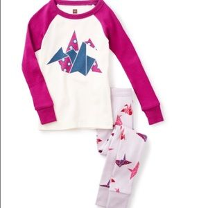 TeaCollection girls Pj's 100%cotton two piece set